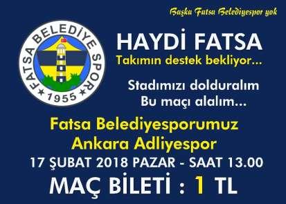 Fatsa Belediyespor'dan taraftara jest