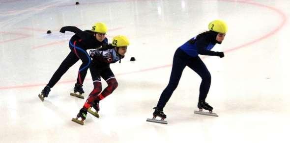 Short Track Federasyon Kupası yarışları Erzurum'da yapıldı