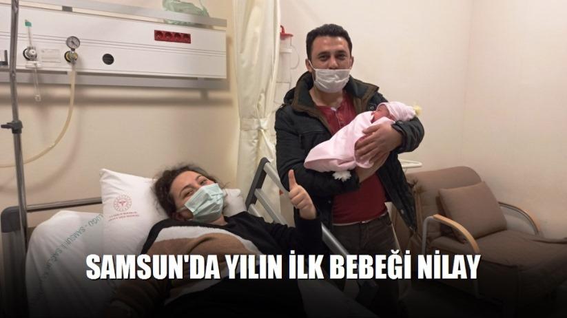 Samsun'da yılın ilk bebeği Nilay