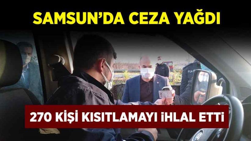 Samsun'da ceza yağdı
