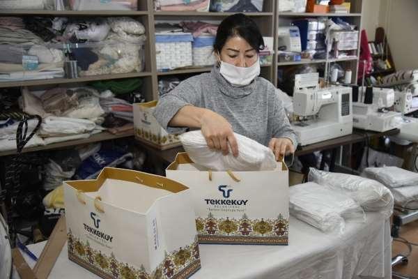 Tekkeköy Belediyesi koruyucu maske üretiyor