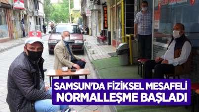 Samsun'da fiziksel mesafeli normalleşme başladı