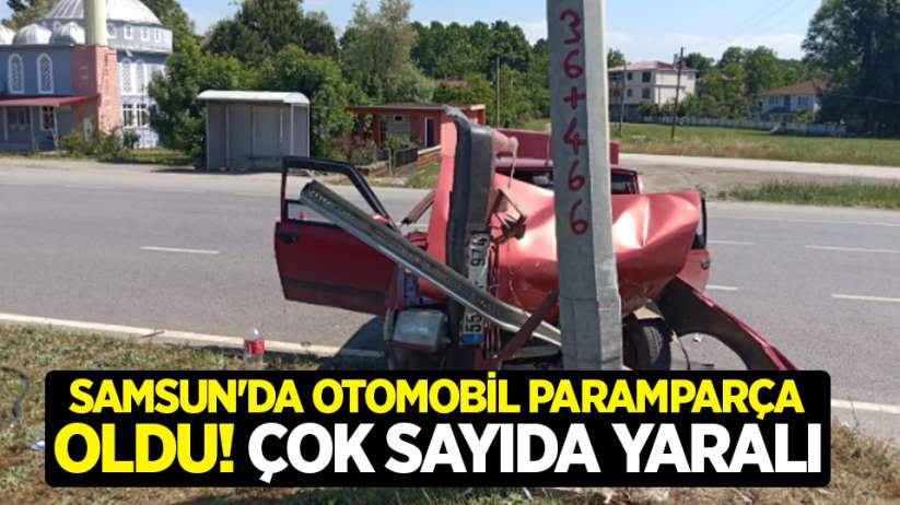 Samsun'da otomobil paramparça oldu! Çok sayıda yaralı