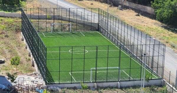 Futbol, voleybol ve basketbol sahalarının yapımı tamamlandı