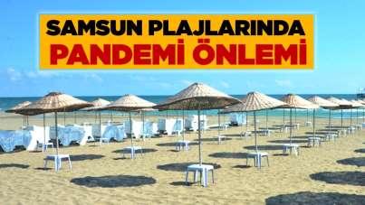 Samsun plajlarında pandemi önlemi