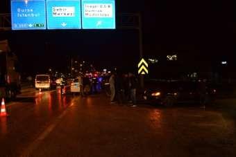 İnegöl'de zincirleme kazada 9 araç birbirine girdi