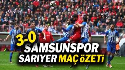 Samsunspor Sarıyer maç özeti