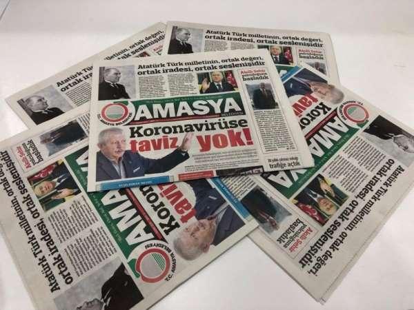 Amasya Belediyesi'nin hizmetlerini duyurduğu gazetenin 10. sayısı yayında