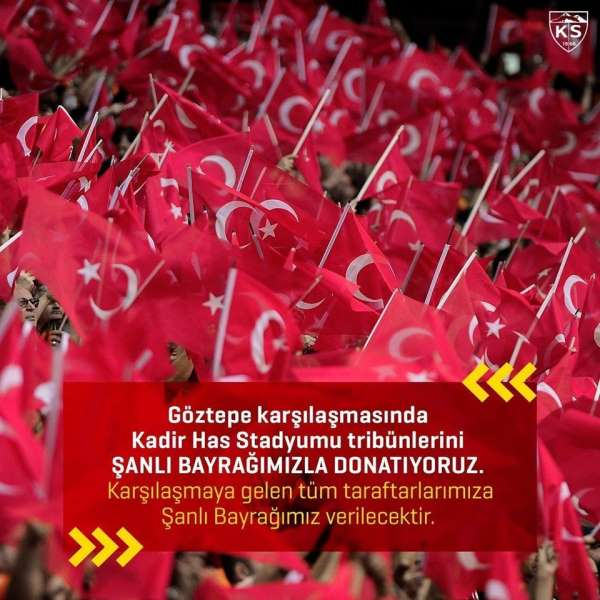 Kadir Has'ta Türk bayrağı dağıtılacak