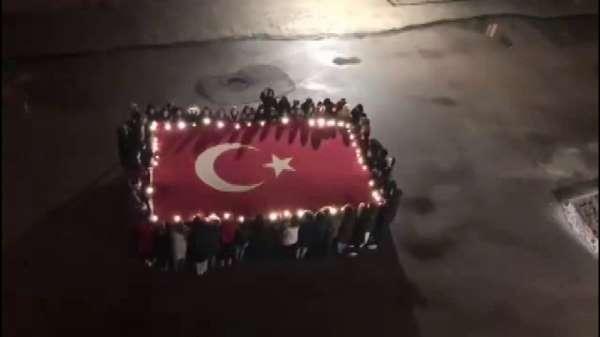 Kız yurdundaki öğrenciler İdlib şehitlerini andı