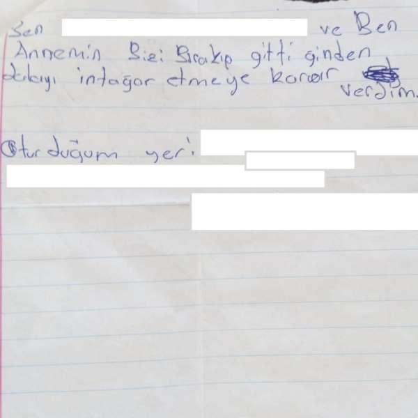 Polis ekipleri buldukları intihar mektubu ile çocuğu kurtardı