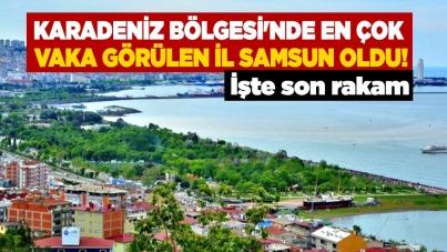 Karadeniz Bölgesi'nde en çok vaka görülen il Samsun oldu!