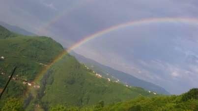 Karadeniz'de çifte gökkuşağı güzelliği