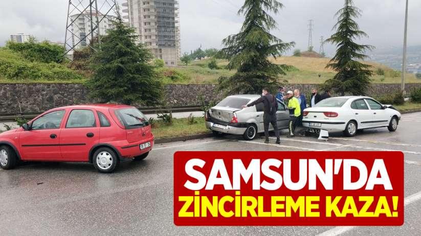 Samsun'da zincirleme kaza!