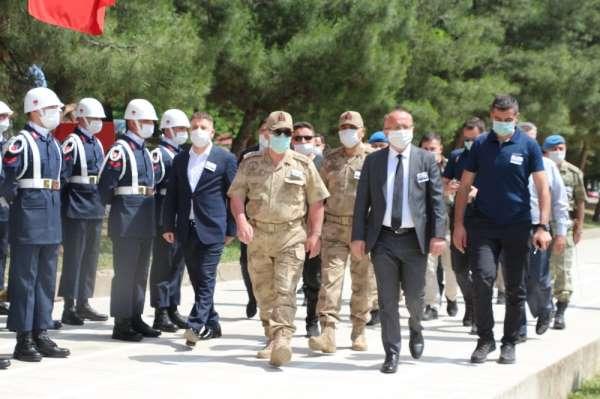 Siirt'te şehit olan 2 asker için tören düzenlendi
