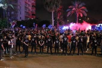 Adana Demirspor ikinciliğe yükseldi, taraftarlar sokağa dökülüp kutlama yaptı