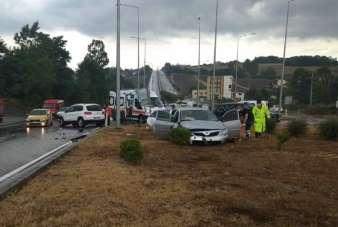 Samsun'da kavşakta kaza: 10 yaralı
