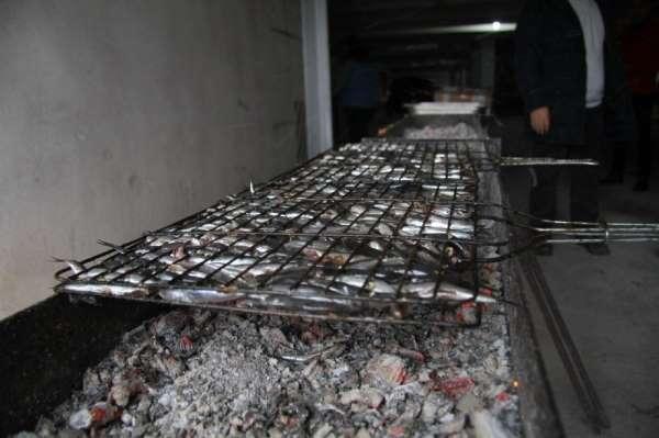 Akçakoca Belediyesi, sporculara 40 kilo ızgara hamsi ikram etti