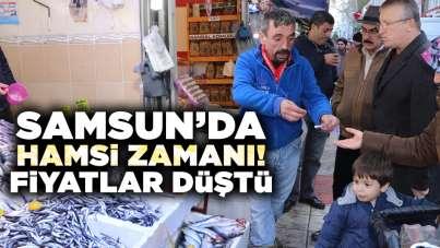 Samsun'da hamsi zamanı! Fiyatlar düştü