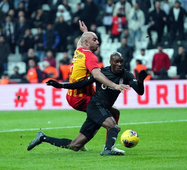 Süper Lig: Beşiktaş: 3 - İ.M. Kayserispor: 0 (İlk yarı)