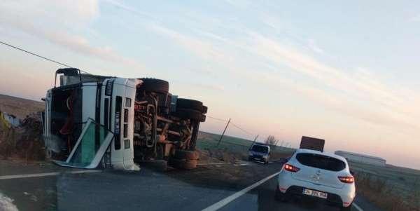 Köy yolunda talihsiz kaza