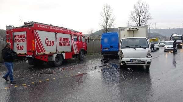 Sarıyer'de zincirleme trafik kazası: 3 yaralı