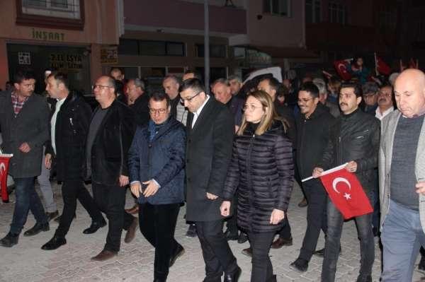 Çan'da İdlib Şehitleri için Mehmetçiğe saygı yürüyüşü