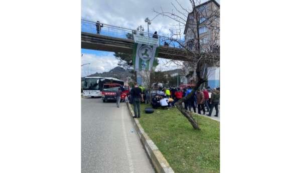 Giresunda trafik kazası: 1 ölü, 4 yaralı