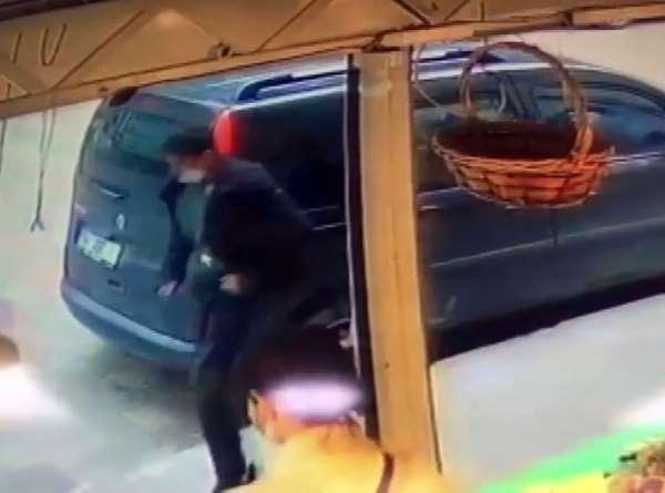 Maltepe'de 13 yaşındaki çocuğu taciz eden şüphelin kaçış anı kamerada