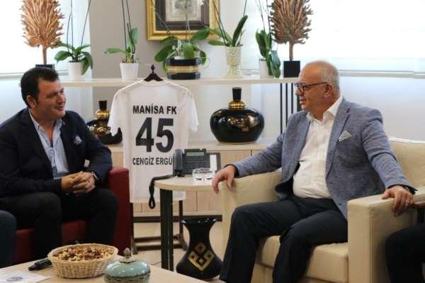 Başkan Ergün'den Manisa FK Başkanı Aktan'a tam destek