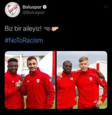 Boluspor, ırkçılığa 'Hayır' dedi
