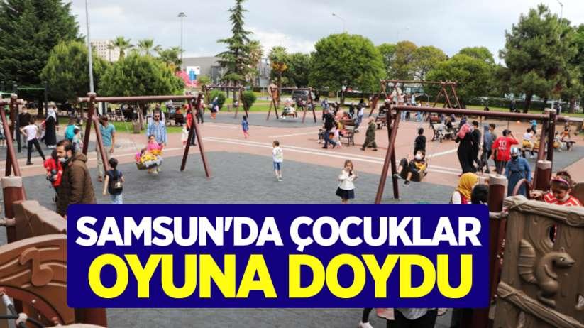 Samsun'da çocuklar oyuna doydu