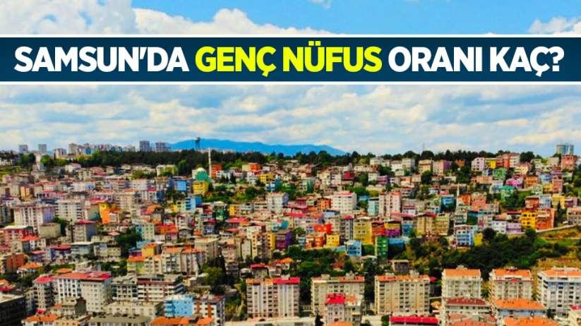 Samsun'da genç nüfus oranı kaç?