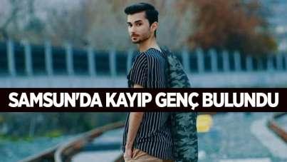 Samsun'da kayıp genç bulundu