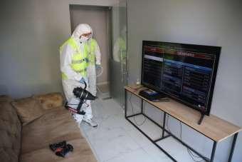 Altınordu'da internet kafeler dezenfekte edildi
