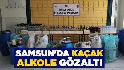 Samsun'da kaçak alkole gözaltı