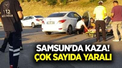 Samsun'da kaza! Çok sayıda yaralı