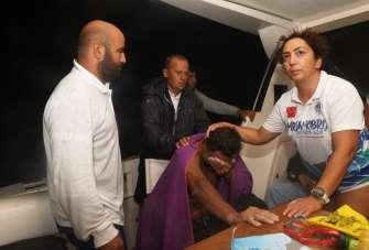 Milli yüzücü Emre Seven'in Mersin - KKTC yüzüşü yarım kaldı