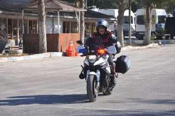 Fethi Sekin'in motosikleti hiç kullanılmıyordu, ilk kez törene getirildi