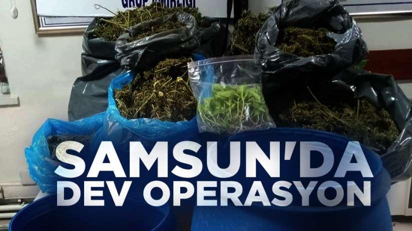 Samsun'da dev operasyon