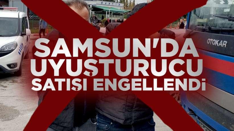 Samsun'da uyuşturucu satışı engellendi
