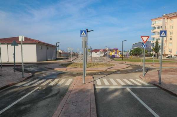 Orduda çocuklar için trafik eğitim parkı