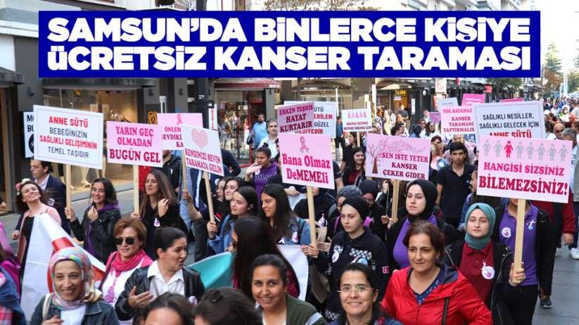 Samsun'da binlerce kişiye ücretsiz kanser taraması