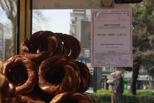 Kocaeli'de 2 TL olan simit ekmekten daha pahalıya satılıyor