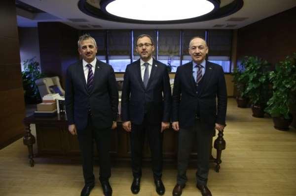 Vali Sezer ile Başkan Saygılı, Spor Bakanı Kasapoğlunu ziyaret etti