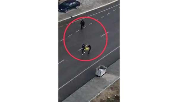 Kablo hırsızları önce kameraya, ardından polise yakalandı