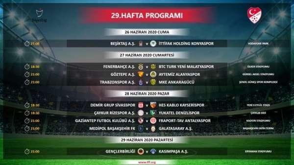 Daha önce ilan edilen Süper Lig Cemil Usta Sezonu 27, 28, 29, 30 ve 31. hafta mü