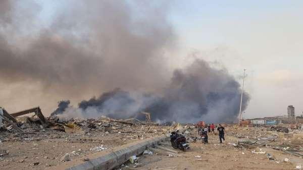 Beyrut'ta havai fişek deposunda şiddetli patlama
