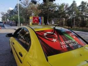 Taksicilerden Azerbaycan'a destek: 'Karabağ'da savaşmaktan dahi çekinmeyiz'