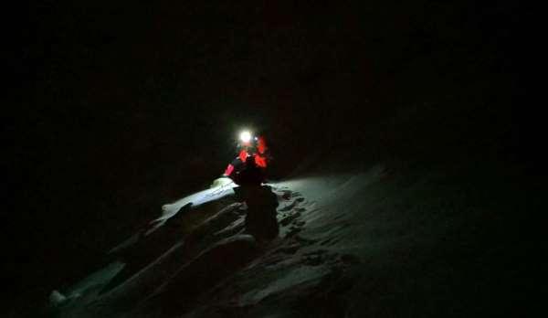 AKUT Trabzon ekibi Uludağ'daki kayıp dağcıları arama çalışmalarına katıldı
